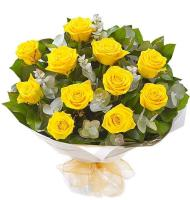 9842 - Yellow Rose Bouquet