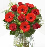 9781 - Red Romantic Flowers