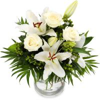 4695 - White Roses and Lilies