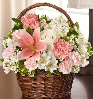 6077 - Pink and White Basket