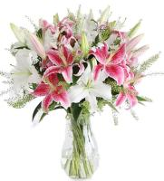 6474 - Pink and White Lilies