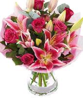 5113 - Pink Lilies and Roses